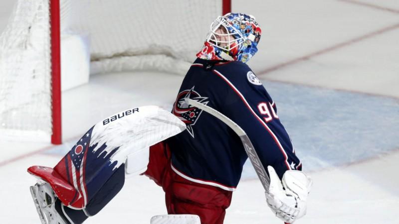 Merzļikins atzīts par nedēļas pirmo zvaigzni NHL