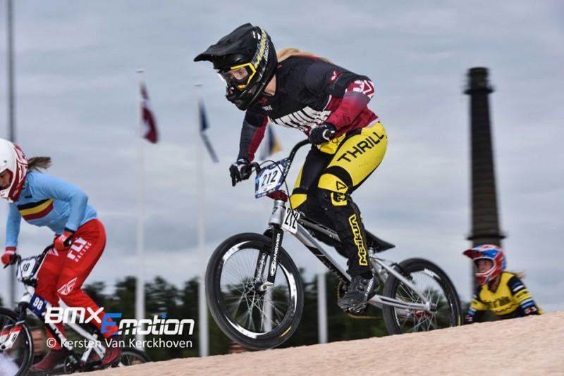 Pētersone UCI pasaules BMX rangā pakāpusies uz devīto vietu