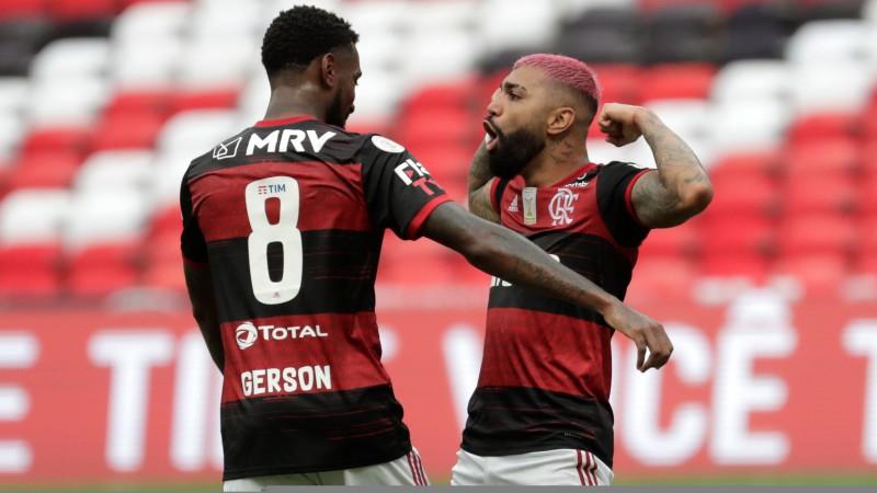"""""""Flamengo"""" uzvar Brazīlijas zelta spēlē un nokļūst soļa attālumā no otrā titula pēc kārtas"""
