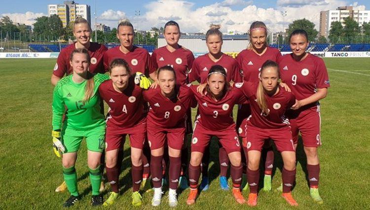 Latvijas sieviešu izlase Baltijas kausā ar 0:5 zaudē Lietuvai