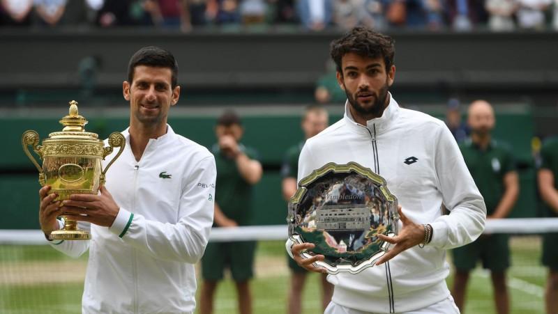 """""""US Open"""" ceturtdaļfinālā Vimbldonas fināla atkārtojums: Džokovičs spēkosies ar Berretīni"""