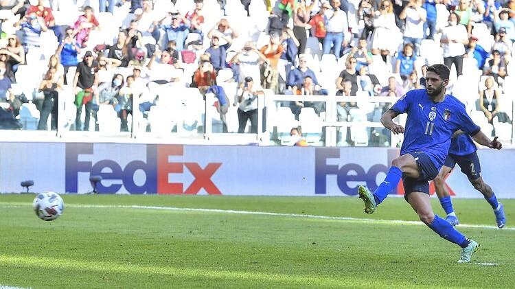 Itālija arī Nāciju līgā apspēlē Beļģiju un izcīna trešo vietu